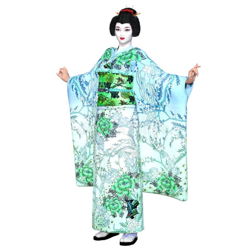 Download Ragazza di geisha illustrazione di stock. Illustrazione di kimono - 56876970