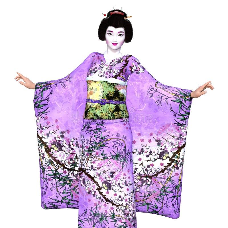Download Ragazza di geisha illustrazione di stock. Illustrazione di giapponese - 56877003