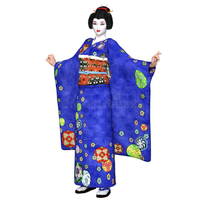 Download Ragazza di geisha illustrazione di stock. Illustrazione di giapponese - 56877012