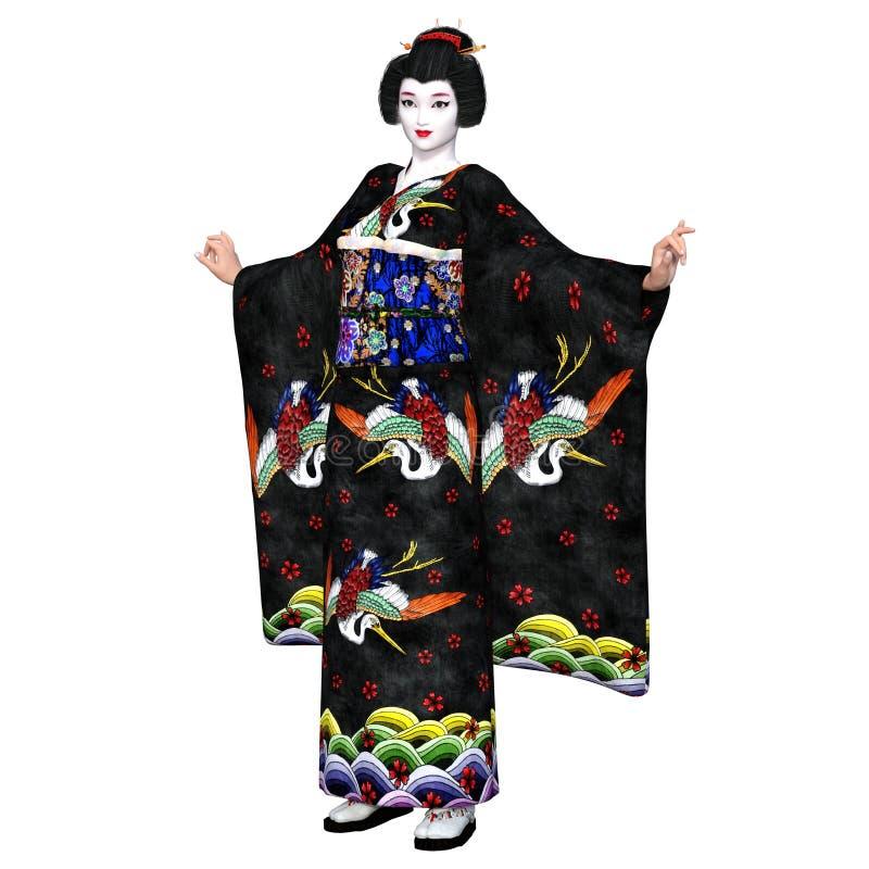 Download Ragazza di geisha illustrazione di stock. Illustrazione di background - 56877015