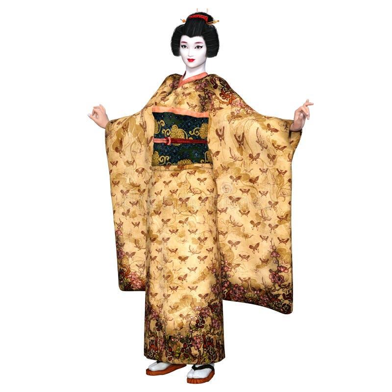 Download Ragazza di geisha illustrazione di stock. Illustrazione di abbastanza - 56877019