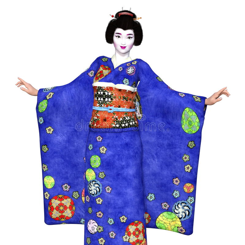 Download Ragazza di geisha illustrazione di stock. Illustrazione di tradizione - 56877576