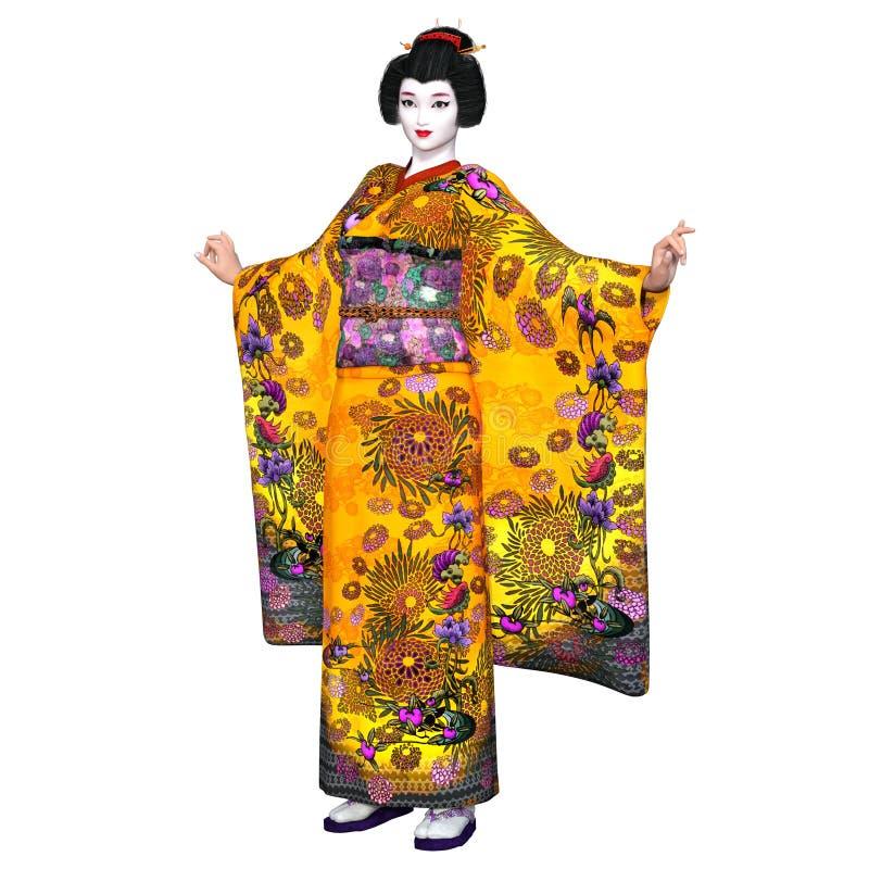 Download Ragazza di geisha illustrazione di stock. Illustrazione di coltura - 56877618