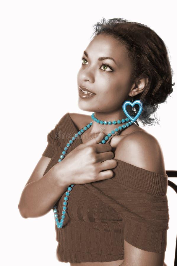Ragazza di Glamor dell'afroamericano immagine stock libera da diritti