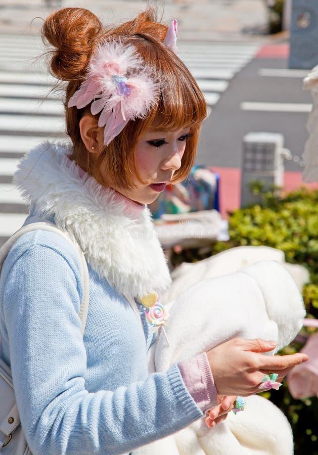 Ragazza di Harajuku a Tokyo, Giappone fotografia stock libera da diritti