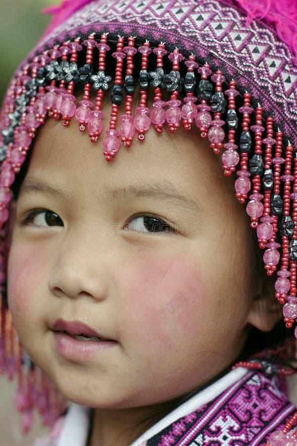 Ragazza di Hilltribe, Tailandia fotografia stock libera da diritti