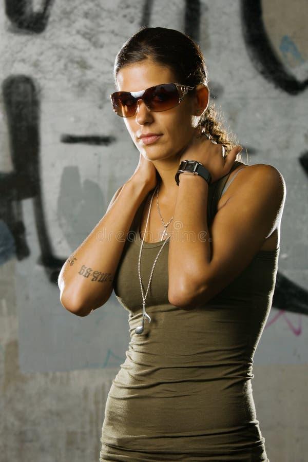 Ragazza di Hip-hop immagini stock libere da diritti
