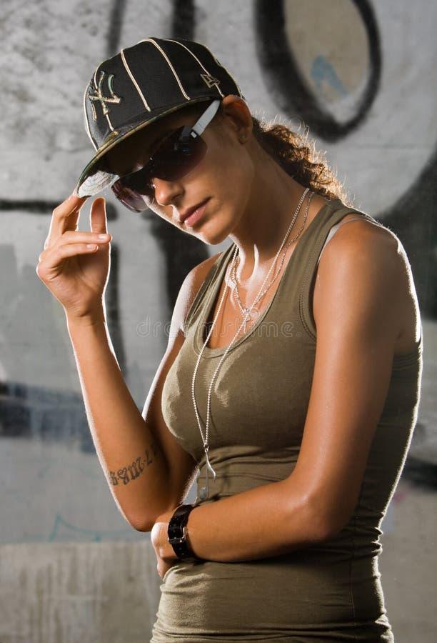 Ragazza di Hip-hop immagine stock
