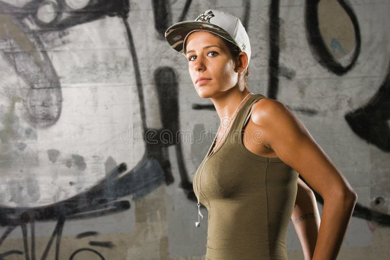 Ragazza di Hip-hop fotografie stock libere da diritti