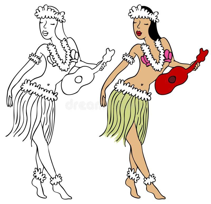 Ragazza di Hula illustrazione vettoriale