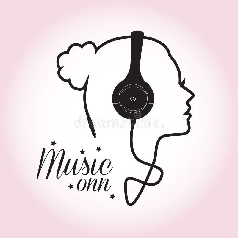 Ragazza di musica illustrazione vettoriale