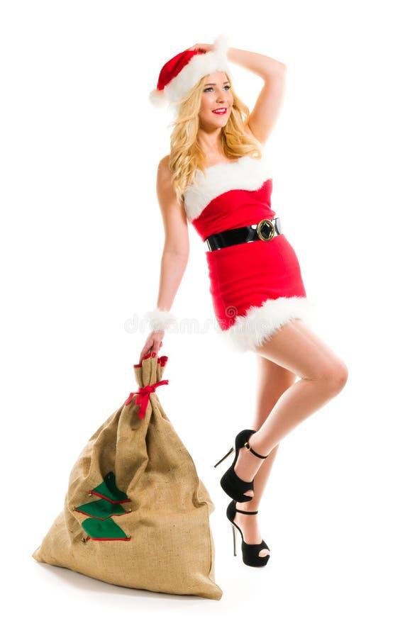 Ragazza di Natale immagine stock