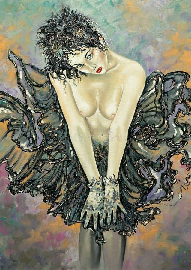 Download Ragazza Di Nudi In Un Pannello Esterno Illustrazione di Stock - Illustrazione di nude, immaginazione: 7302468