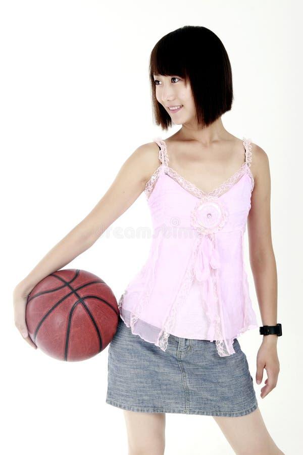 Ragazza di pallacanestro. immagini stock