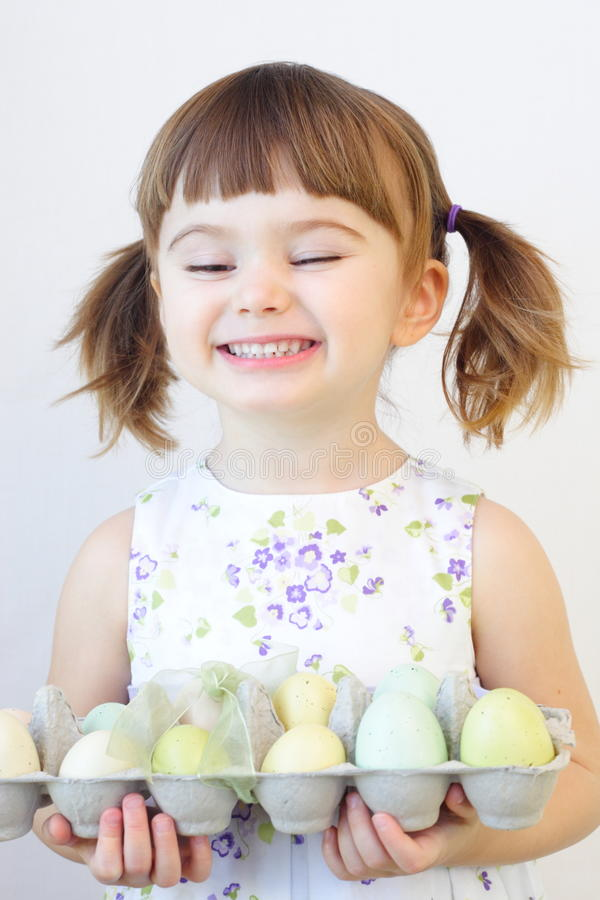 Ragazza di Pasqua immagini stock libere da diritti