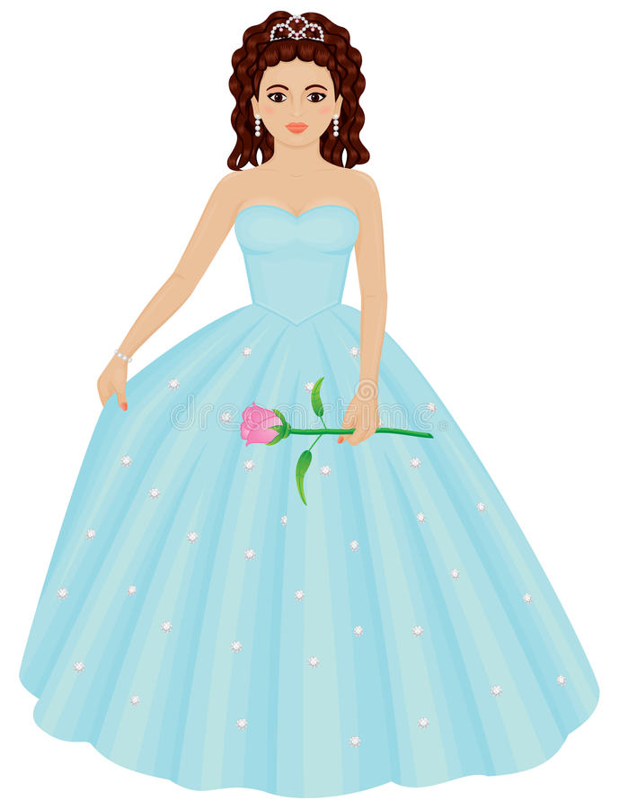 Ragazza di Quinceanera royalty illustrazione gratis