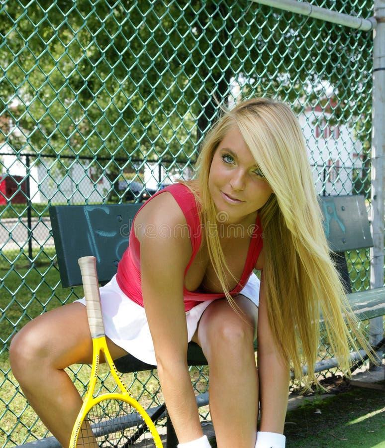 Ragazza di tennis immagine stock