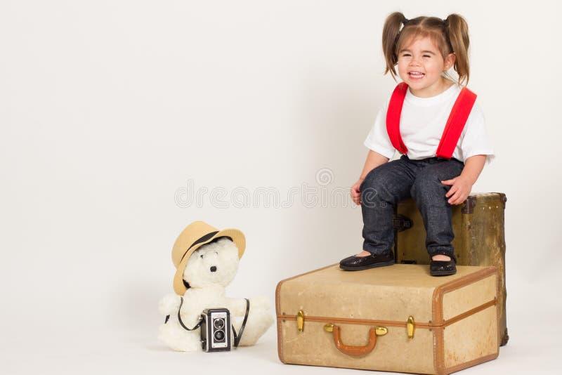 Ragazza di vendite del bambino fotografia stock libera da diritti