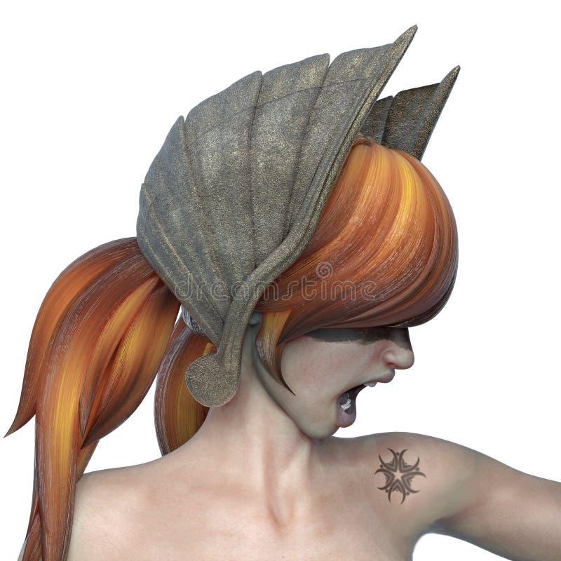 Ragazza di Viking il guerriero gingery royalty illustrazione gratis