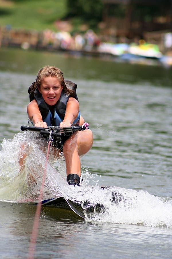 Ragazza di Wakeboarding immagini stock