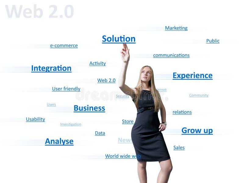 Ragazza di Web 2.0 fotografia stock libera da diritti