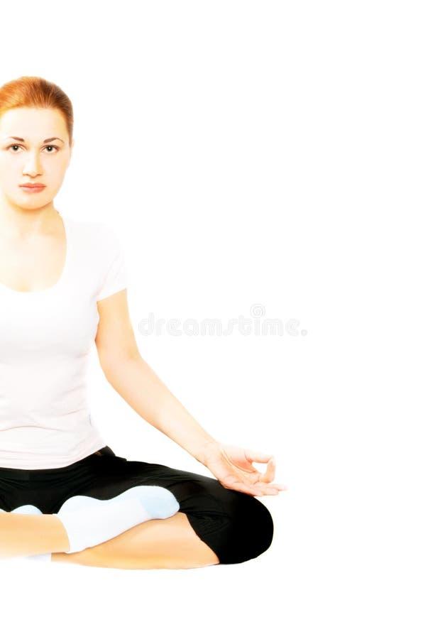 Ragazza di yoga. immagine stock libera da diritti