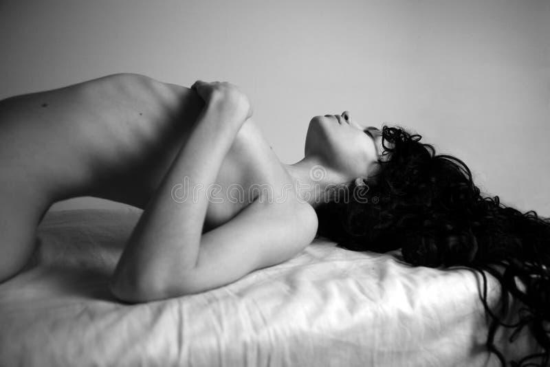 Download Ragazza Elegante Con Capelli Neri Immagine Stock - Immagine di attraente, ecstasy: 3876215