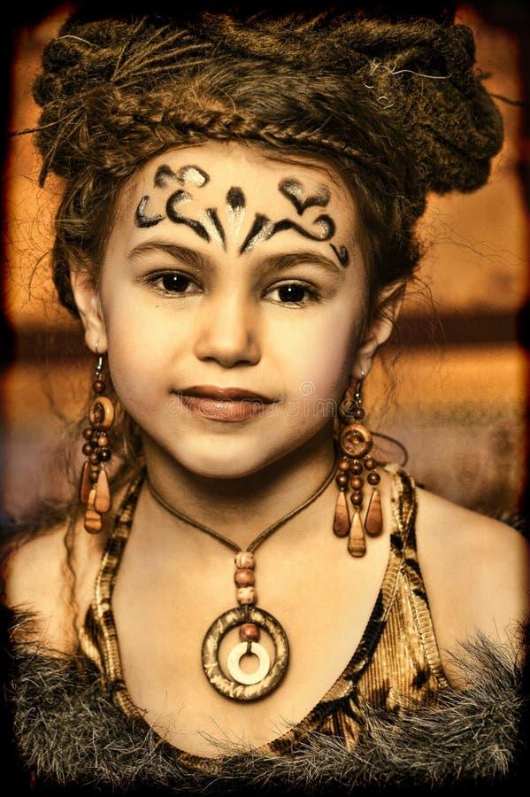 Ragazza etnica immagine stock