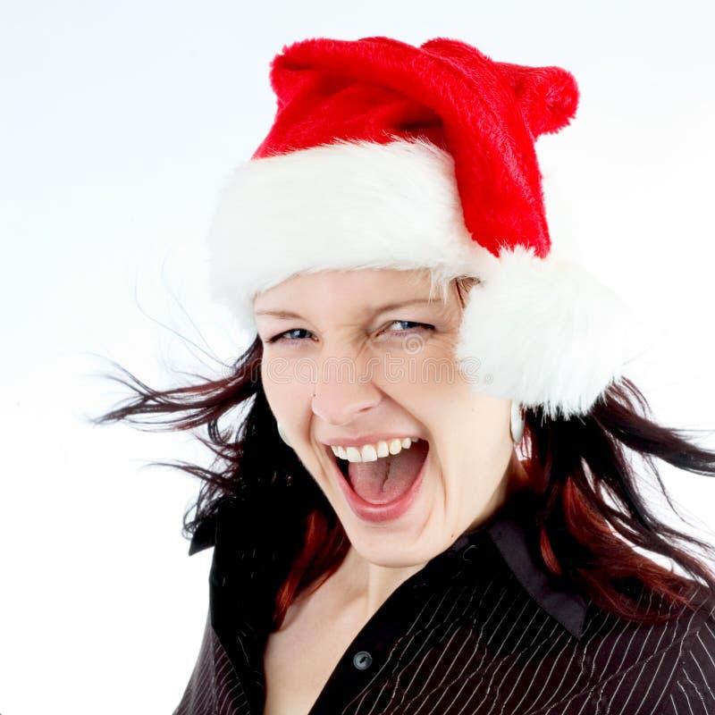 Ragazza felice della Santa immagini stock libere da diritti