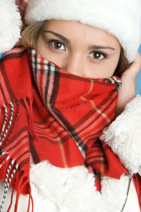 Ragazza fredda di inverno fotografia stock libera da diritti