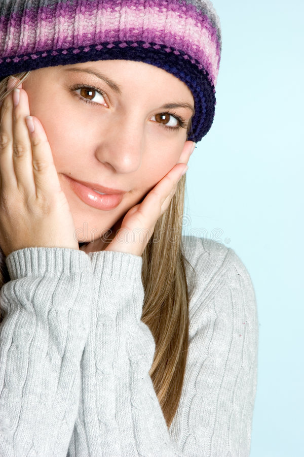Ragazza fredda di inverno fotografie stock