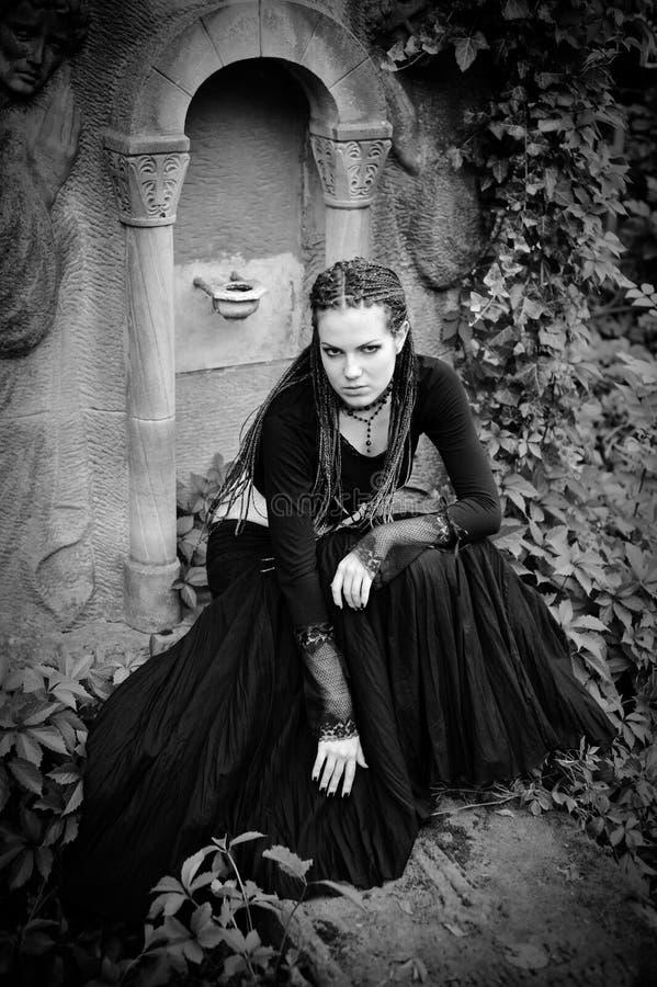 Ragazza gotica immagine stock