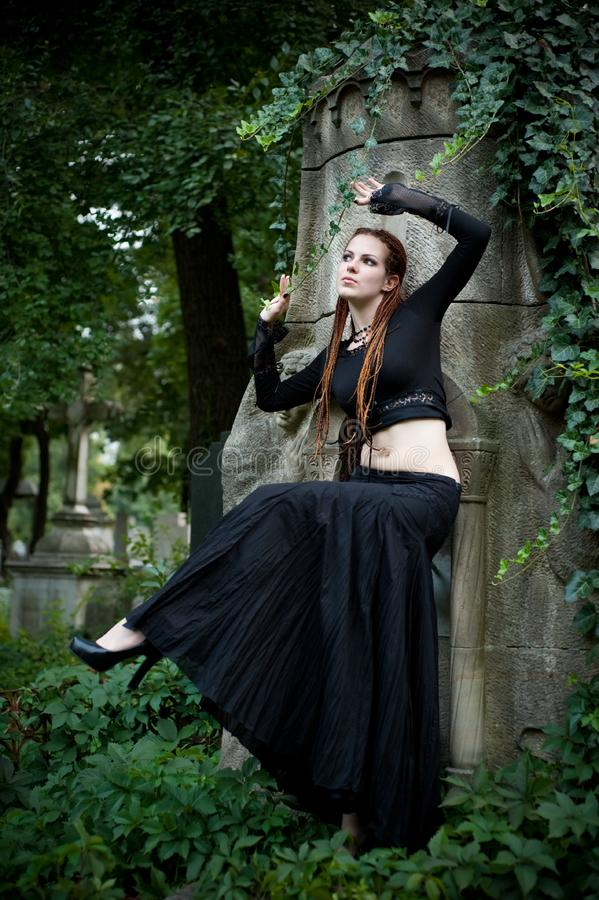 Ragazza gotica fotografia stock