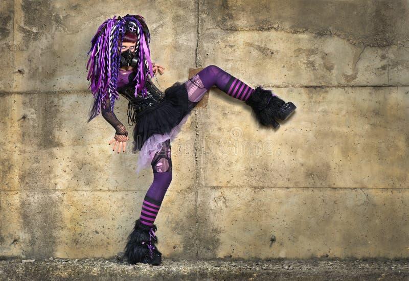 Ragazza gotica di Cyber fotografia stock libera da diritti