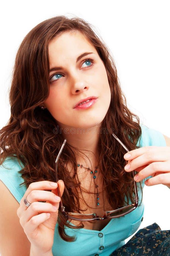Ragazza graziosa del brunette fotografie stock libere da diritti