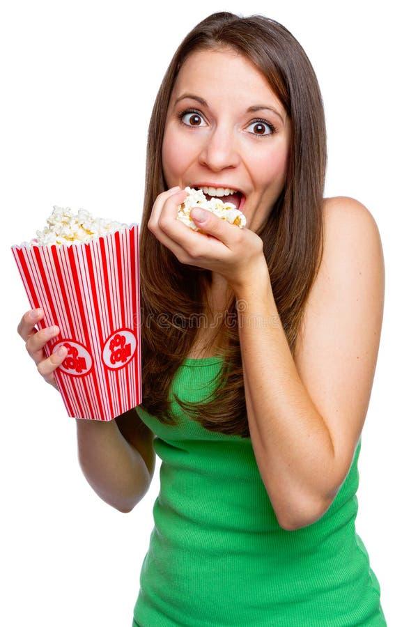 Ragazza graziosa del popcorn fotografie stock libere da diritti