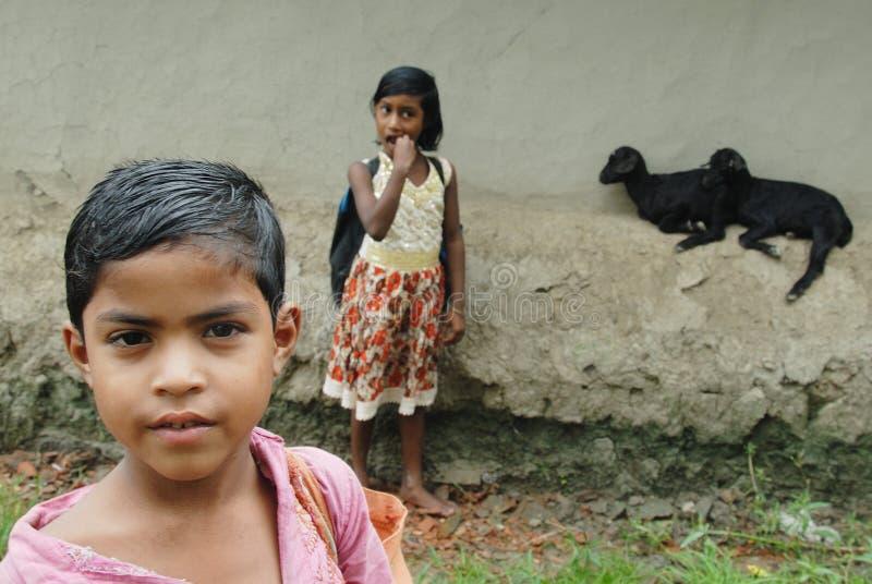 Ragazza in India rurale fotografie stock libere da diritti