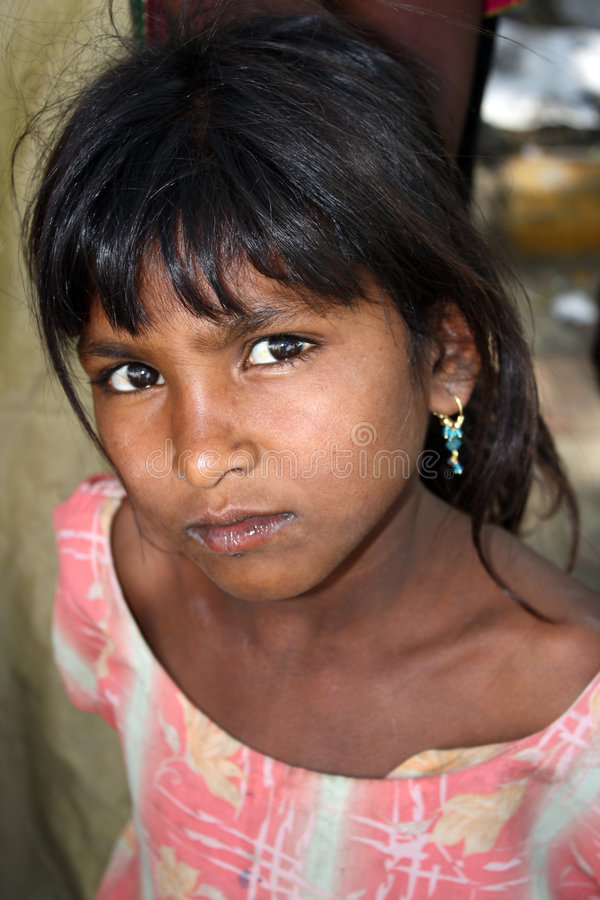 Ragazza indiana povera fotografie stock