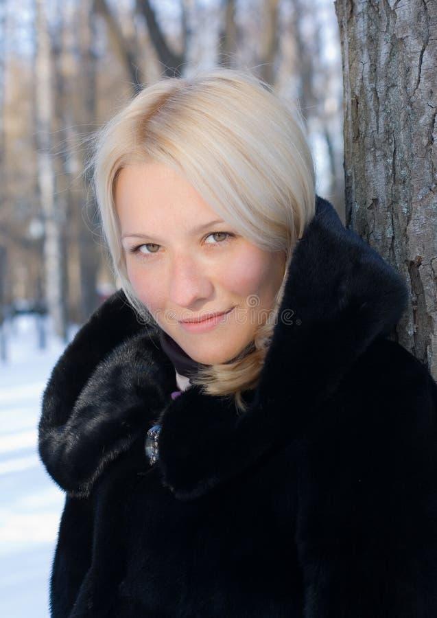Ragazza in inverno fotografia stock libera da diritti