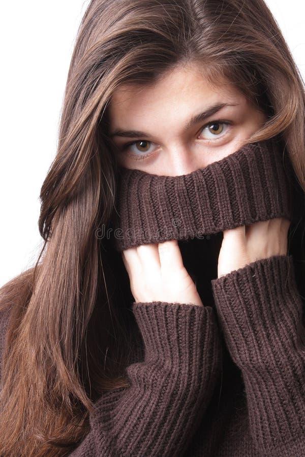 Ragazza in maglione immagine stock libera da diritti