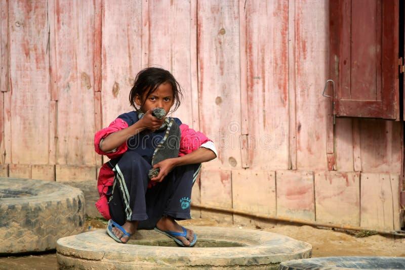 Ragazza malgascia fotografia stock libera da diritti