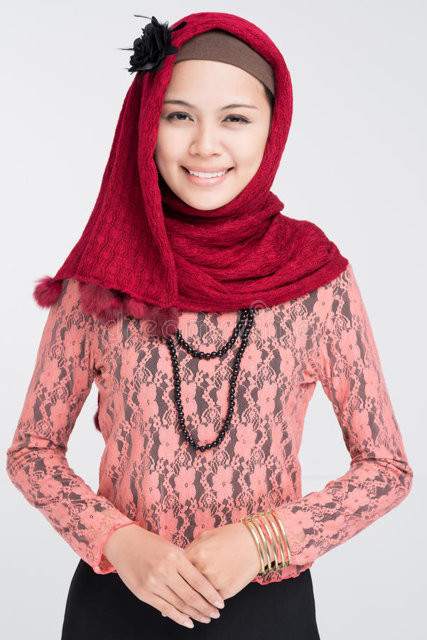 Ragazza musulmana attraente fotografia stock libera da diritti