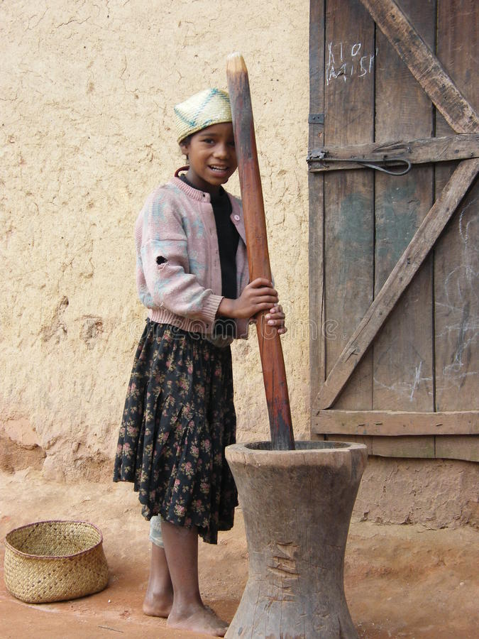 Ragazza natale malgascia immagini stock libere da diritti