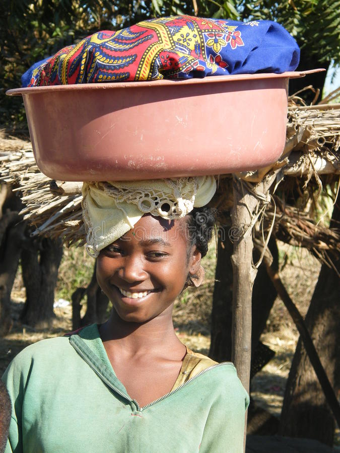Ragazza natale malgascia fotografia stock libera da diritti