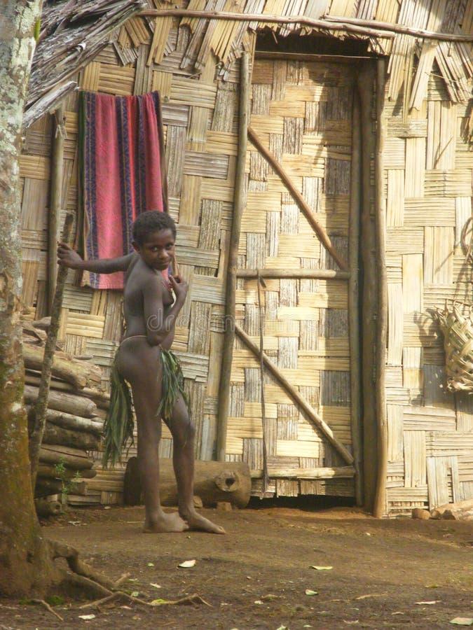 Ragazza natale nel Vanuatu immagini stock