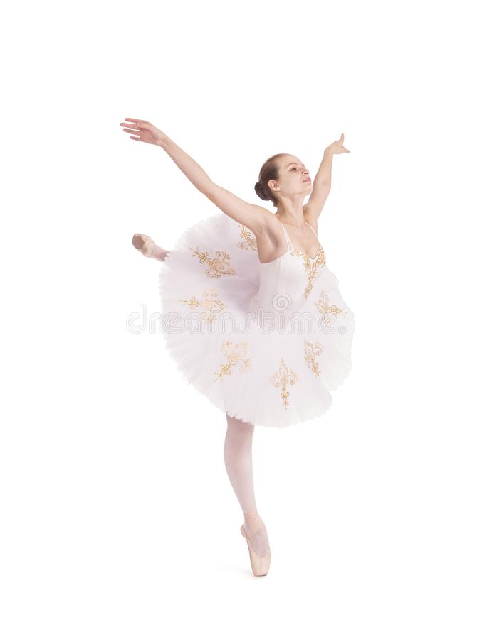 Ragazza nel balletto bianco di dancing del tutu fotografia stock