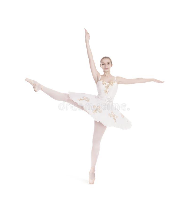 Ragazza nel balletto bianco di dancing del tutu immagine stock