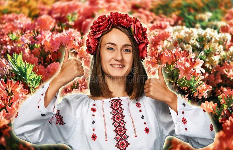 Ragazza nel vestito nazionale ucraino immagini stock libere da diritti