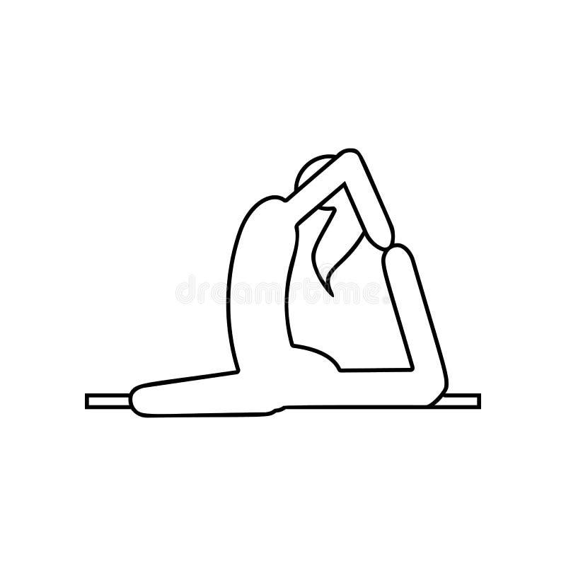 Ragazza nell'icona di posa di yoga Elemento dell'India per il concetto e l'icona mobili dei apps di web _profilo, sottile linea i illustrazione di stock