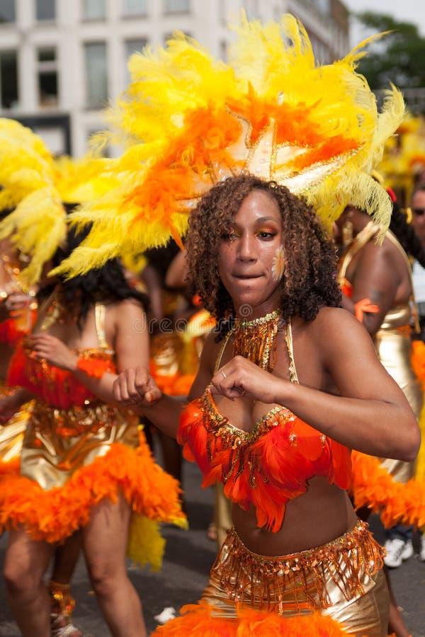 Ragazza nella parata di carnevale di estate 2012 fotografie stock libere da diritti